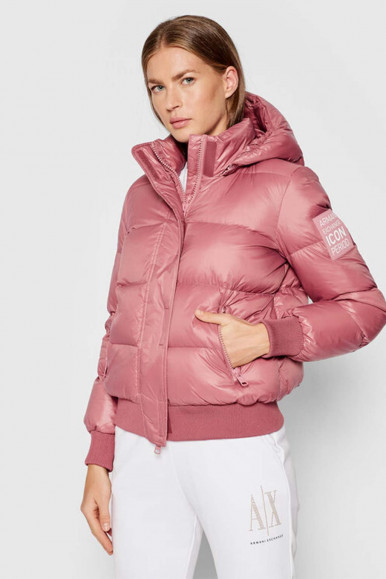 ARMANI EXCHANGE PINK WOMAN'S QUILT 8NYB40