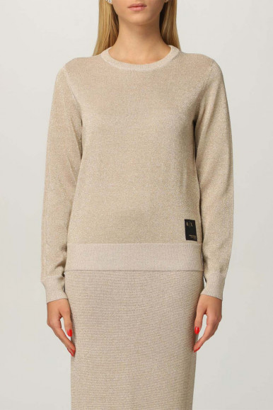 ARMANI EXCHANGE GOLD WOMAN'S PULLOVER 6KYM1H