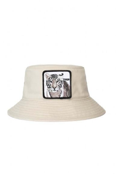 GOORIN BROS BEIGE MAN'S FISHERMAN CAP WITH TIGER
