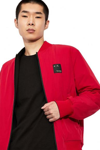 ARMANI EXCHANGE BLACK-RED MAN'S REVERSIBLE JACKET 6KZB61