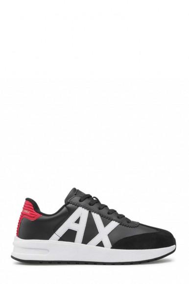 ARMANI EXCHANGE BLACK-RED-WHITE MAN'S A/X SNEAKERS XUX071