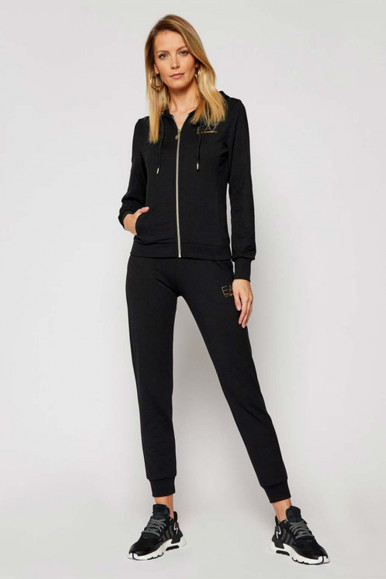 EA7 BLACK WOMAN'S TRACKSUIT WITH ZIP 8NTV51