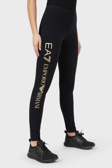 EA7 BLACK-GOLD WOMAN'S LEGGINGS 8NTP63