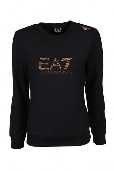EA7 BLACK-GOLD WOMAN'S SWEATSHIRT G/C 8NTM45