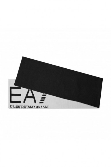 EA7 BLACK-WHITE DOUBLE FACE MAN'S SCARF 274910