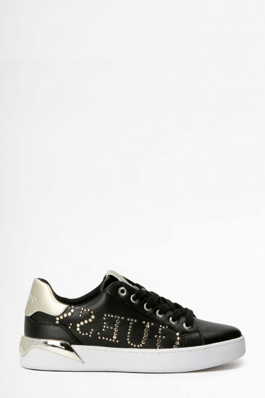BLACK-GOLD WOMAN'S GUESS RORII SNEAKERS