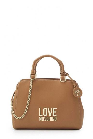 LOVE MOSCHINO WOMAN'S CAMEL BAG 4192