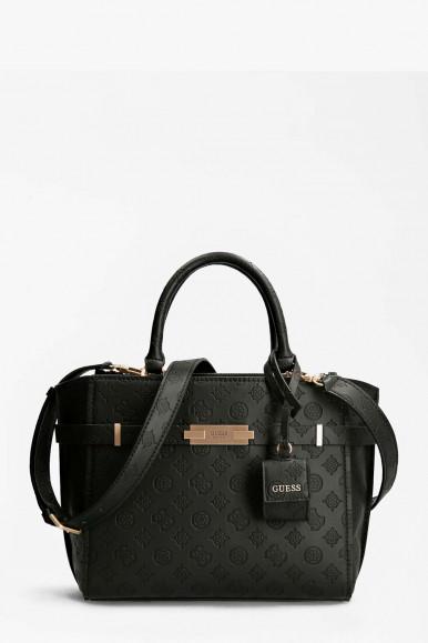BLACK WOMAN'S GUESS BEA SOCETY SATCHEL BAG