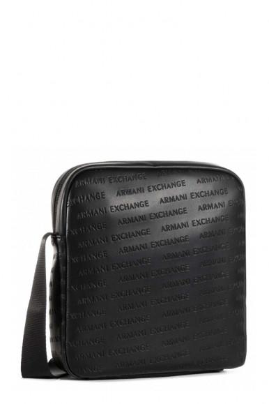 BLACK MAN'S ARMANI EXCHANGE  SHOUDLER BAG WITH LOGOS 952138