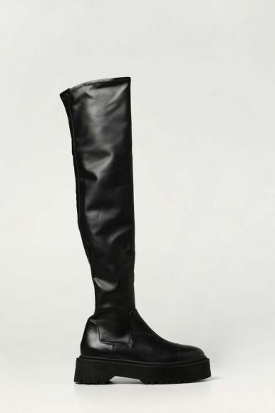 HIGH BLACK WOMAN'S ARMANI EXCHANGE BOOTS XDO009