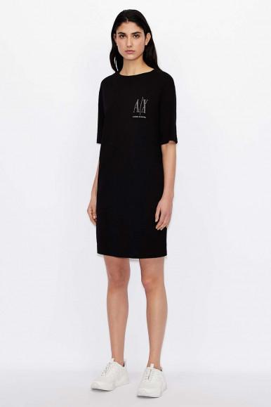 SHORT BLACK WOMAN'S ARMANI EXCHANGE DRESS 8NYADX