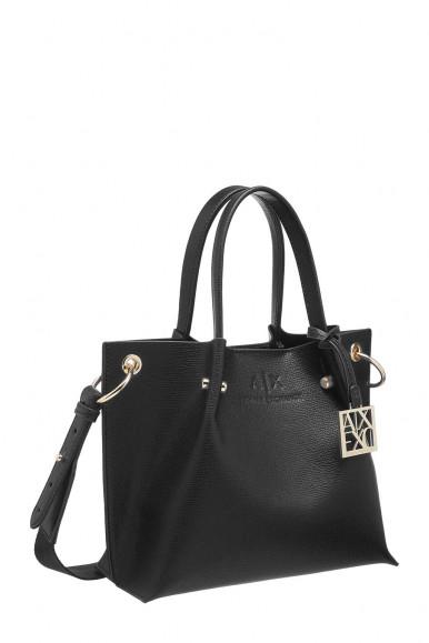 BLACK WOMAN'S ARMANI EXCHANGE SHOUDLER BAG 952686