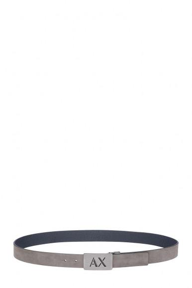 ARMANI EXCHANGE CINTURA REVERSIBILE GRIGIO-NAVY UOMO 951279