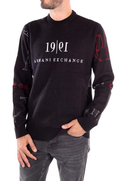 BLUE-RED-WHITE- MAN'S ARMANI EXCHANGE PULLOVER 6KZM2D
