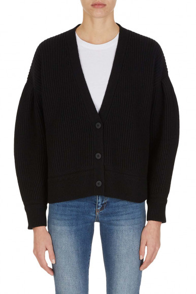 BLACK WOMAN'S ARMANI EXCHANGE CARDIGAN WITH BUTTONS 6KYE2