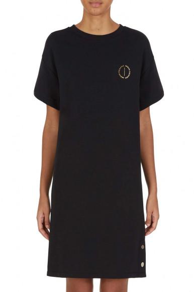 SHORT BLACK WOMAN'S ARMANI EXCHANGE DRESS 6KYA84