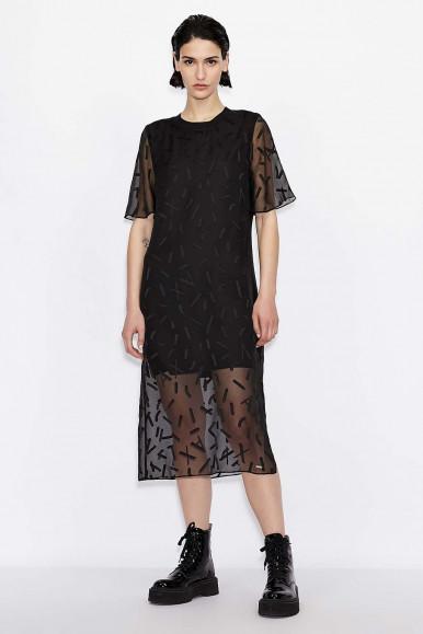 BLACK WOMAN'S ARMANI EXCHANGE DRESS 6KYA09