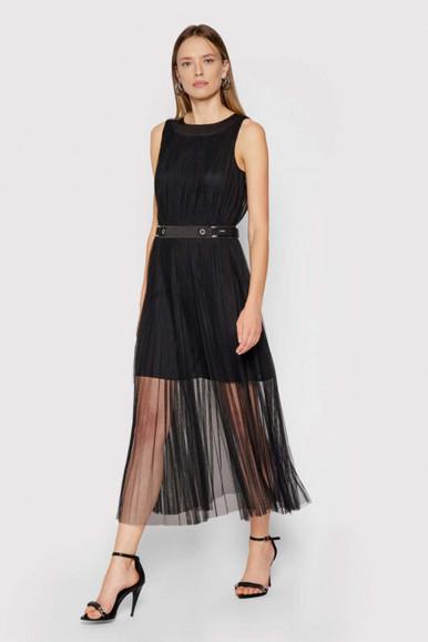 LONG BLACK WOMAN'S ARMANI EXCHANGE DRESS 6KYA02