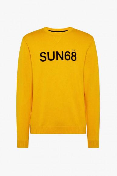 SUN 68 PULLOVER GIALLO ROUND UOMO K41116