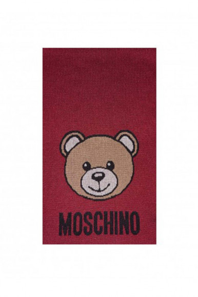 RED WOMAN'S MOSCHINO BEAR SCARF 30666
