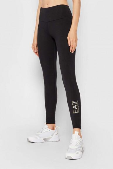 BLACK-GOLD WOMAN'S EA7 LEGGINGS 6KTP68