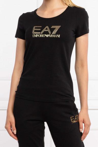 BLACK-GOLD WOMAN'S EA7 T-SHIRT 6KTT36