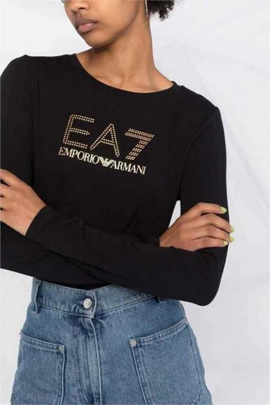 BLACK WOMAN'S EA7 T-SHIRT 8NTT51