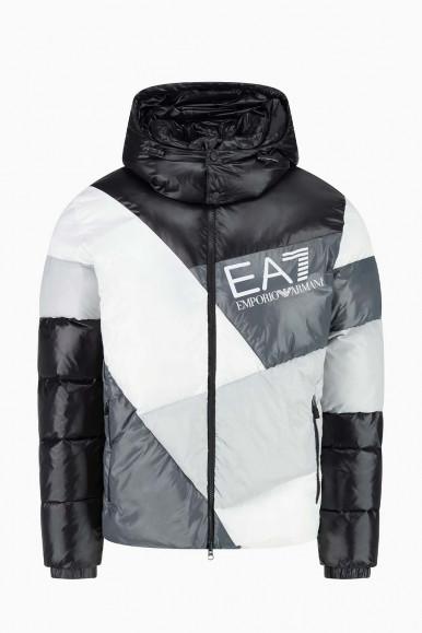 BLACK-WHITE MAN'S EA7 JACKET 6KPB60