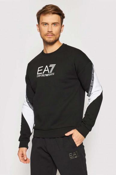 BLACK-WHITE MAN'S EA7 SWEATSHIRT 6KPM28