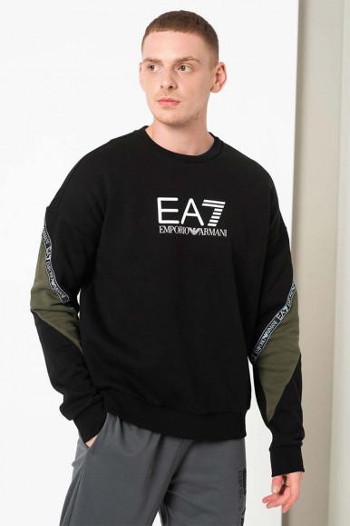 BLACK-GREEN MAN'S EA7 SWEATSHIRT 6KPM28