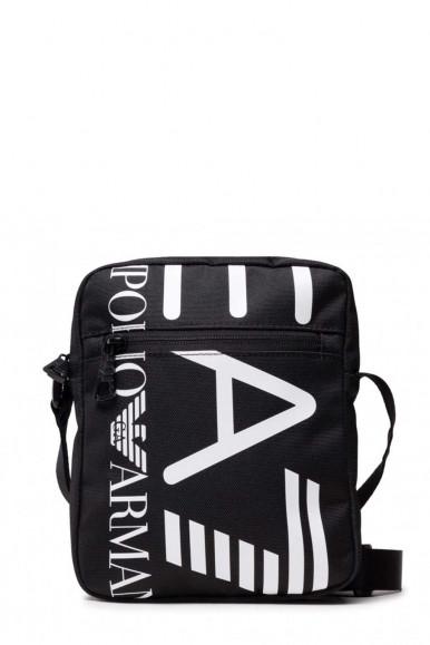 BLACK-WHITE MAN'S EA7 SHOUDLER BAG 276135