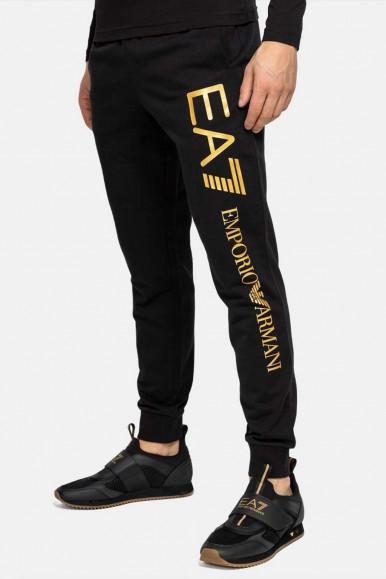 BLACK-GOLD MAN'S EA7 PANTS 8NPPC3