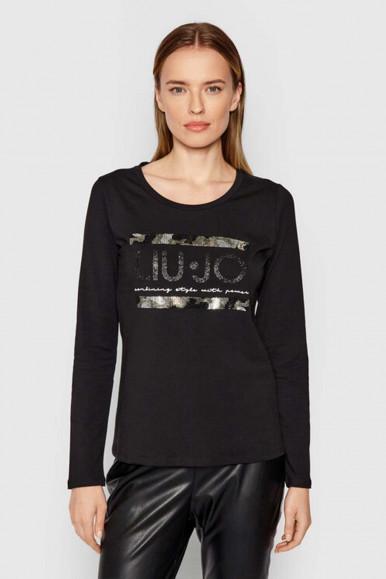 BLACK-GOLD WOMAN'S LIU JO T-SHIRT 1220