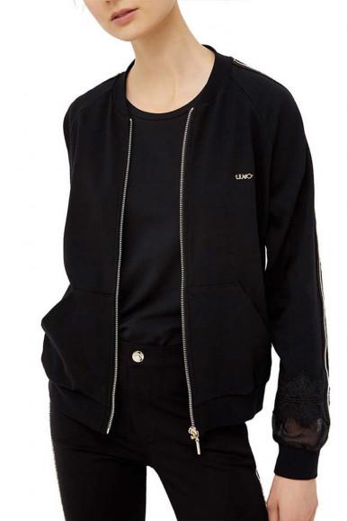 Black woman's Liu Jo Sweatshirt with zip J6144