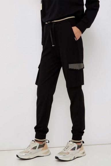 Pantalone Liu Jo nero donna con tasconi 1159