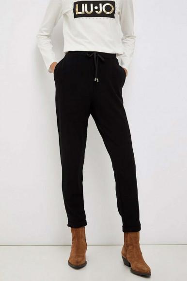 Pantalone felpato nero Liu Jo donna 1119