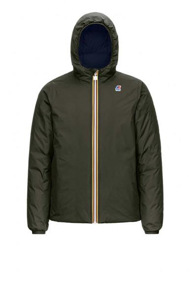 Green-black man's K-Way reversibile Thermo Plus Jacket
