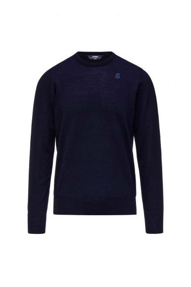 Pullover K-Way Sebastian blu uomo Merino