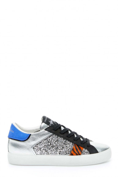 Sneakers argento donna Crime London 24337