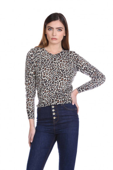 RELISH SPOTTED WOMAN'S SWEATER CYFRU