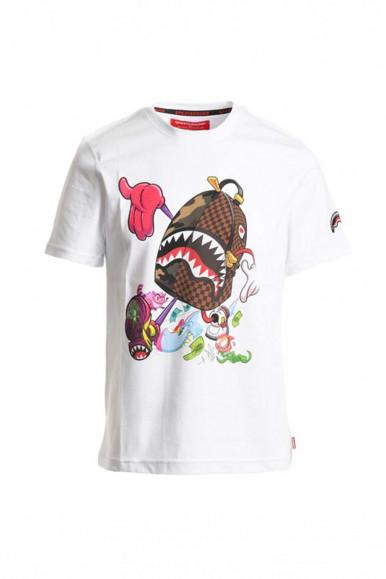 T-Shirt bianca uomo Zaino in Fuga Spayground 130